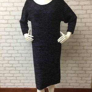 NWT Tahari purple and black sweater dress - L